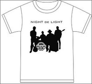 ナイトdeライト Tシャツ ホワイト Mサイズ