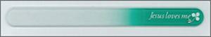 チェコ製 ガラスの爪ヤスリ NF16-B バラ (グリーン)